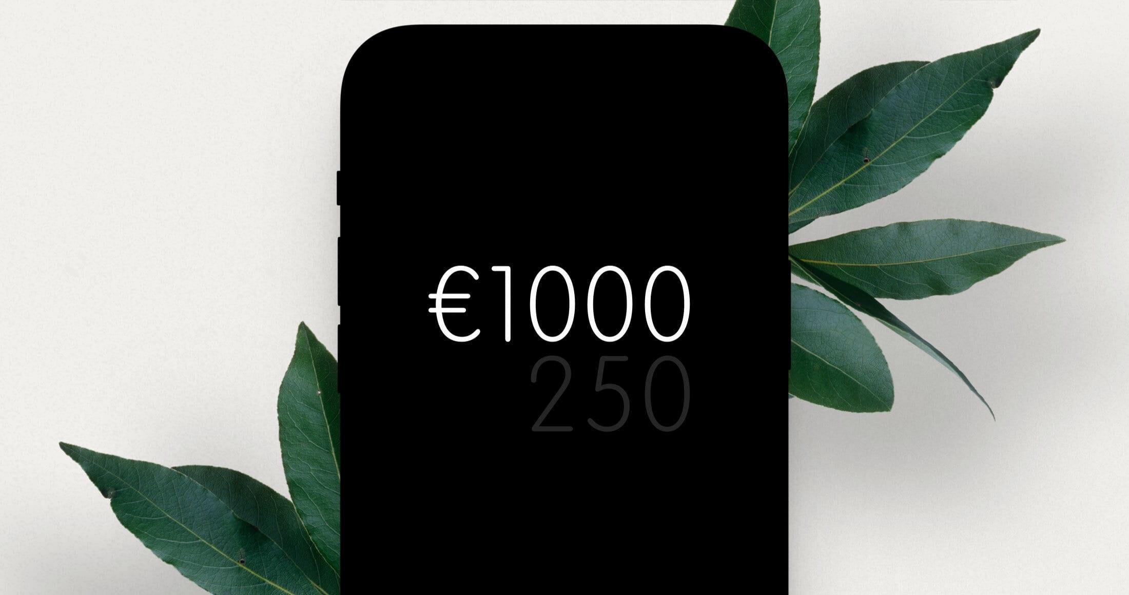 De limiet van de automatische incasso is verhoogd naar €1.000