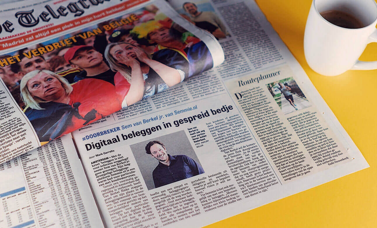 Telegraaf: #Doorbreker Digitaal beleggen in gespreid bedje
