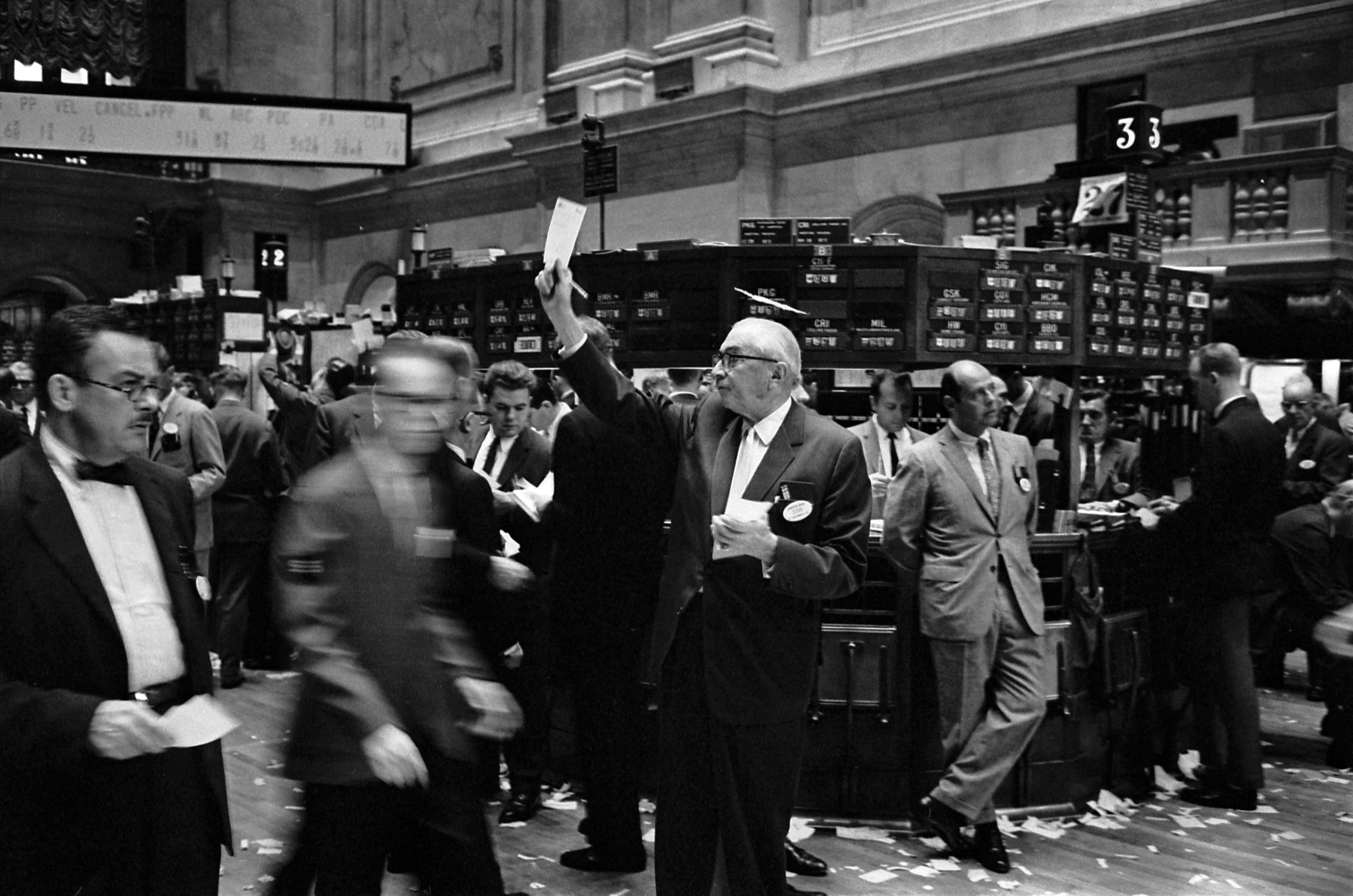 Vloerhandelaren op de New York Stock Exchange<br>